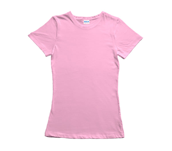 Light Pink Gildan Heavy Cotton Ladies T-Shirt
