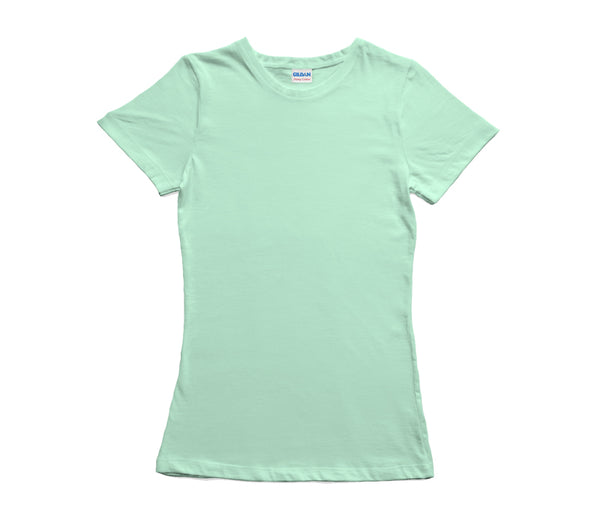 Mint Green Gildan Heavy Cotton Ladies T-Shirt