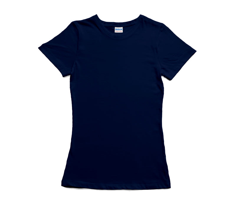 Navy Gildan Heavy Cotton Ladies T-Shirt