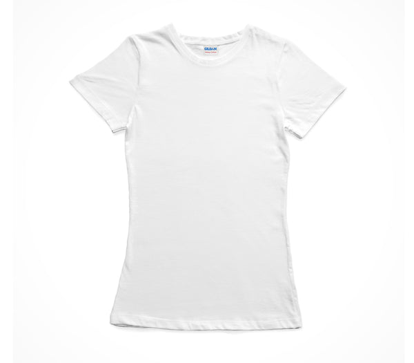 White Gildan Heavy Cotton Ladies T-Shirt