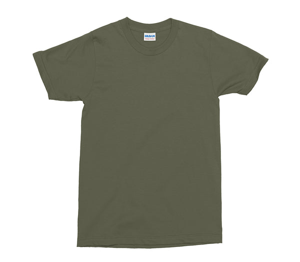 Military Green Gildan Heavy Cotton Adult T-Shirt (GD005)