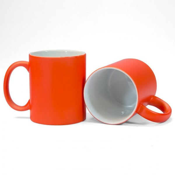 Orange Neon Sublimation Printed Mug