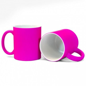 Pink Neon Sublimation Printed Mug