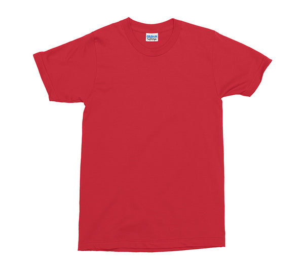 Red Gildan Softstyle Adult T-Shirt