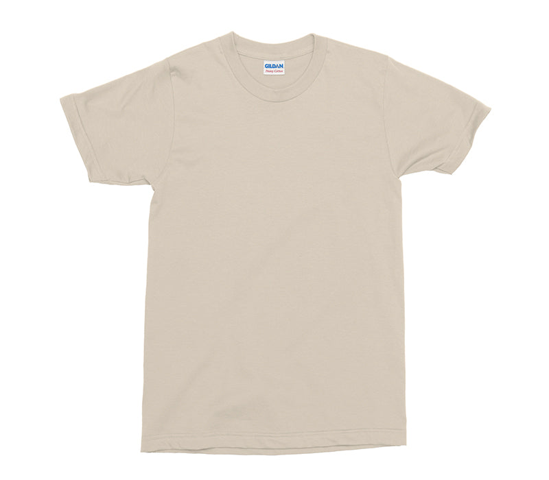 Sand Gildan Heavy Cotton Adult T-Shirt (GD005)