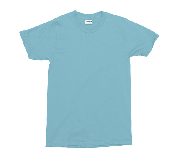Sky Blue Gildan Heavy Cotton Adult T-Shirt (GD005)