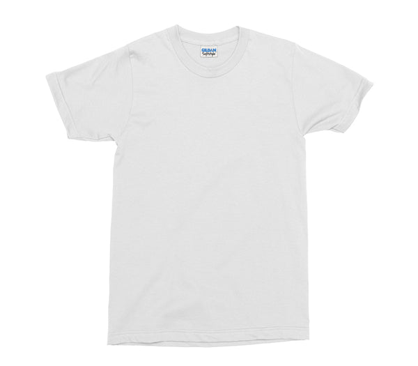 White Gildan Softstyle Adult T-Shirt