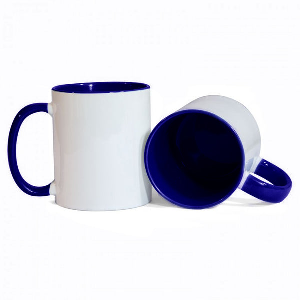 Dark Blue Two Tone Sublimation Printed Mug