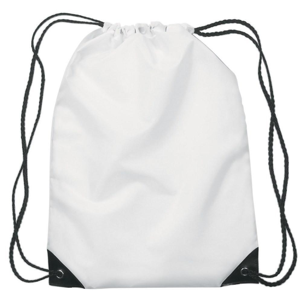 White Soft Tote Drawstring Sublimation Gym Bag