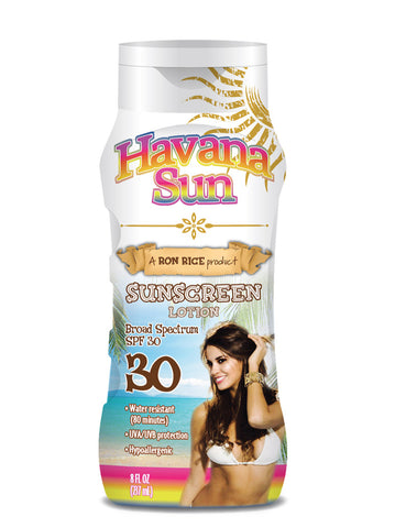 Havana Sun's Suncreen Lotion in SPF 30