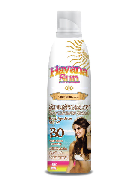 Havana Sun's Continuous Spray Suncreen in SPF 30