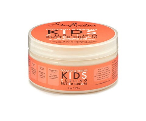 SheaMoisture Coconut & Hibiscus Kids Curling Butter Cream 6oz, Default, Hair Evolve