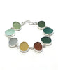 Earth Tone Sea Glass Bracelet