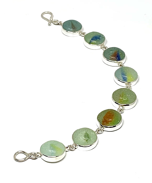 Colorful Sea Glass Marble Bracelet - 7 1/2