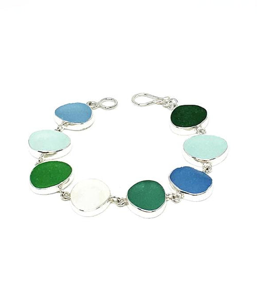 Light Earth Tone Sea Glass Bracelet