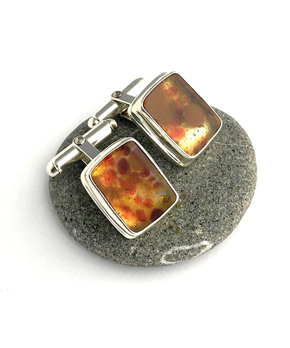 Fused Glass Cuff Links