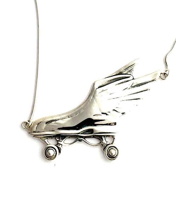 Vintage Roller Skate Necklace