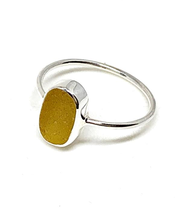 Yellow Sea Glass Stack Able