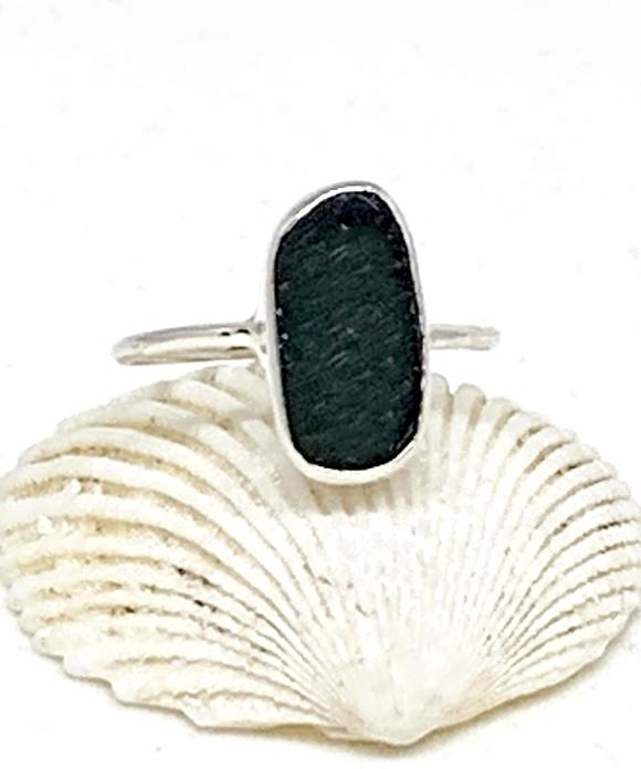 Black Sea Glass Stack Able