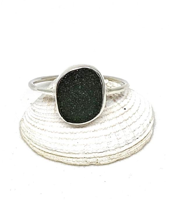 Dark Grey Sea Glass Stack Able