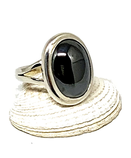 Energetic Hematite Ring - Size 5.5