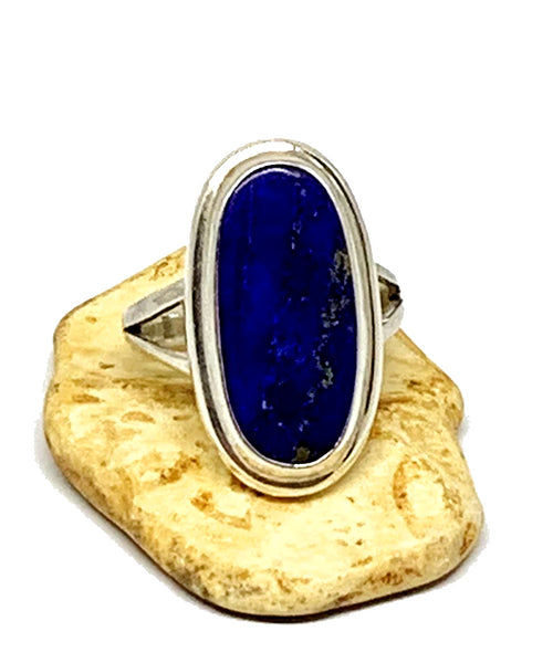 Deep Blue Lapis Ring - Size 5.5
