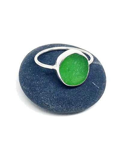 Lime Green Sea Glass