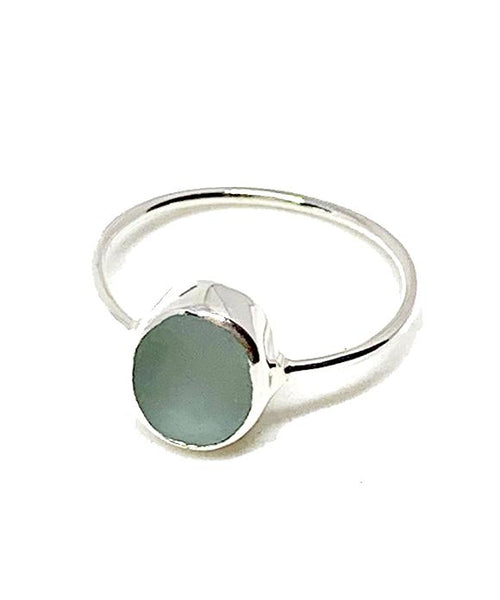 Light Grey Sea Glass Stack Able