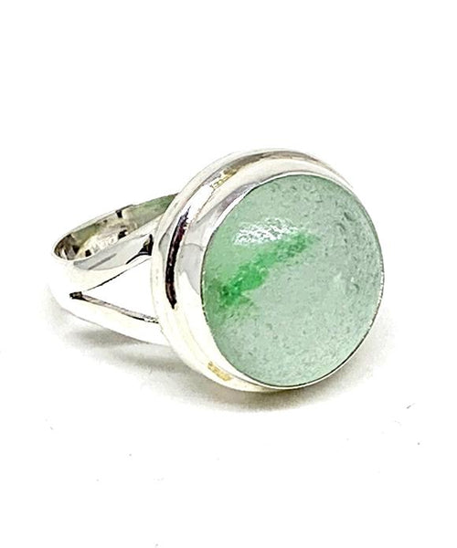 Green Swirl Marble Ring - Size 6