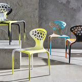 Set of SIX Supernatural Bicolour Chairs by Ross Lovegrove for Moroso – Green / White
