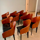 PAIR Vintage Toscana Chairs by Piero Sartogo for Saporiti Italy (5 PAIRS available)