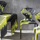 Set of SIX Supernatural Bicolour Chairs by Ross Lovegrove for Moroso – Green / Black