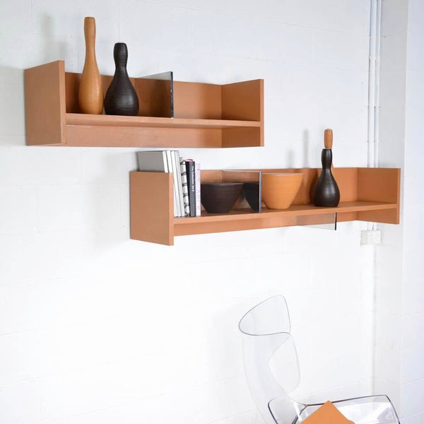 2LEATHER Bookshelves by Rodolfo Dordoni for Matteograssi