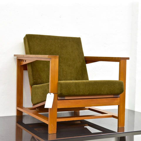 Coachwood Adjustable Chair with Alpaca Velvet through Copeland & DeSoos