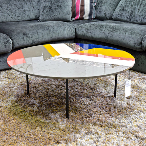 Fishbone Round Coffee Table  by Patricia Urquiola for Moroso through HUB