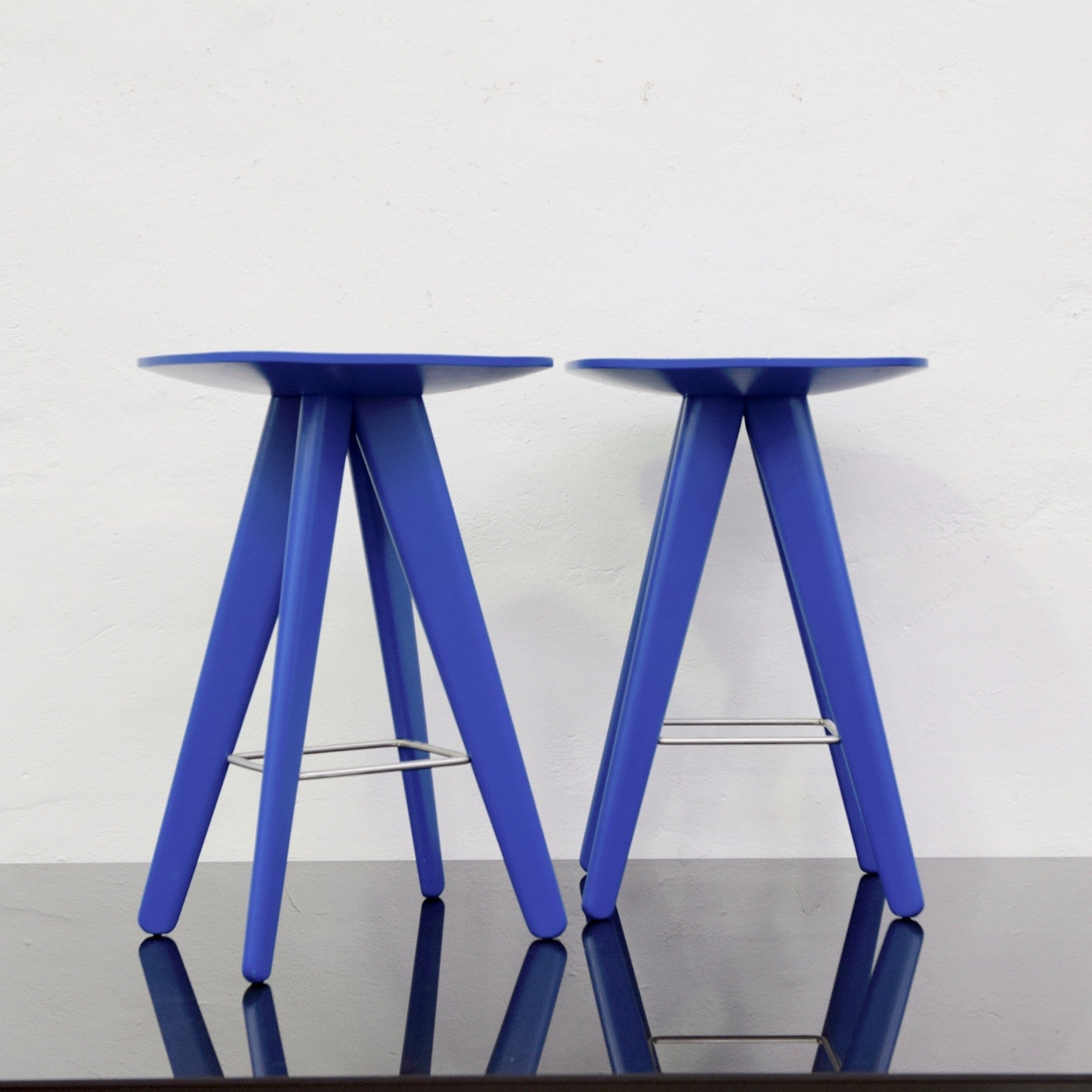 ICS Barstool by Rodrigo Torres for Poliform - Blue