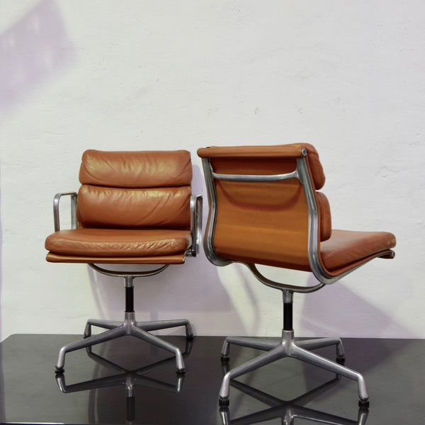Set of FOUR Vintage (c1960) Soft Pad Chairs by Herman Miller