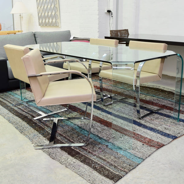 Set of FOUR Brno Chairs by Knoll (Reupholstered Custom Leather)