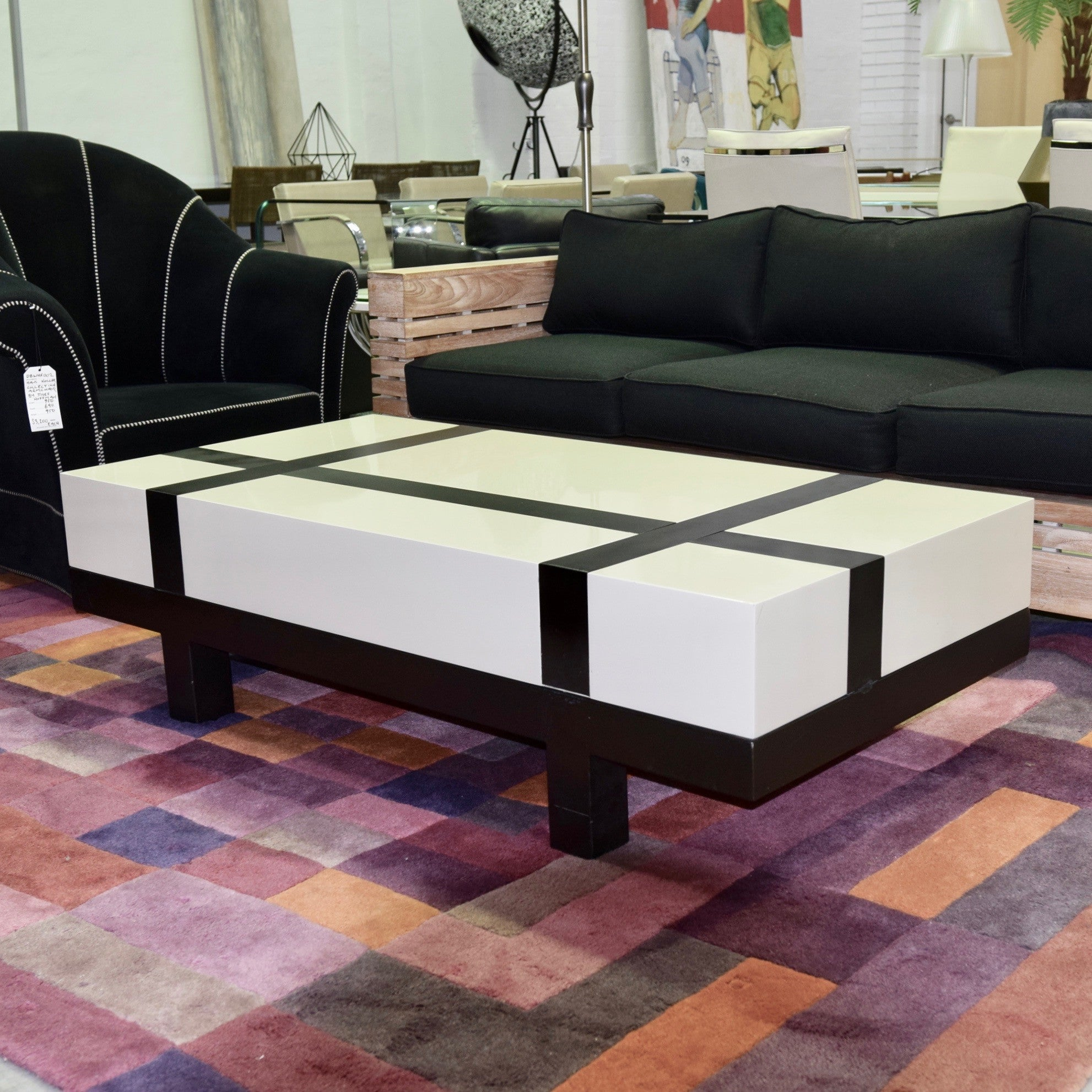 Banded Block Coffee Table through Coco Republic