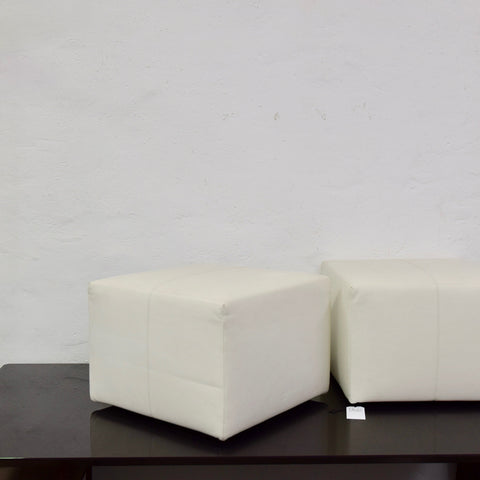 P60 Square Leather Ottoman by Antonio Citterio for B&B Italia (2 available)