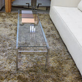 Vintage Chrome & Glass Coffee Table c1960