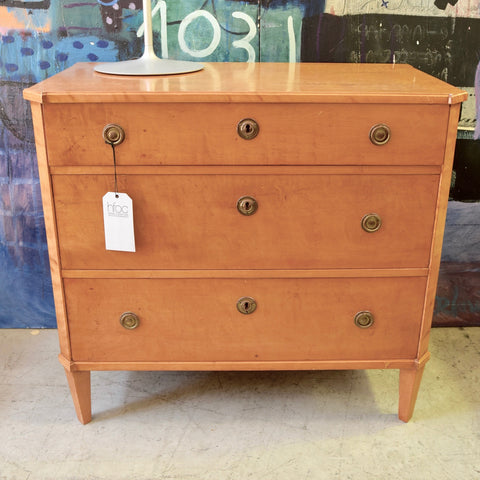 19th Century Swedish Chest of Drawers in Birch