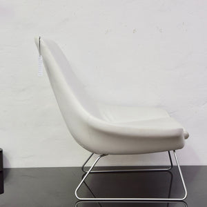 Flow Chair by Walter Knoll in White Leather