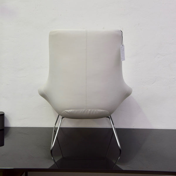 Flow Chair by Walter Knoll in White Leather (2 Available)