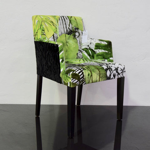 Occasional Chair upholstered in Christian Lacroix Fabric