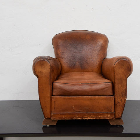 Antique French Art Deco Club Chair c1940 through Country Trader (2 Available)
