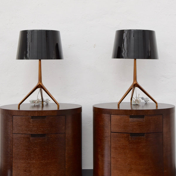 Lamp by Rodolfo Dordoni for Foscarini - Bronze with Black Glass Shade (2 Available)