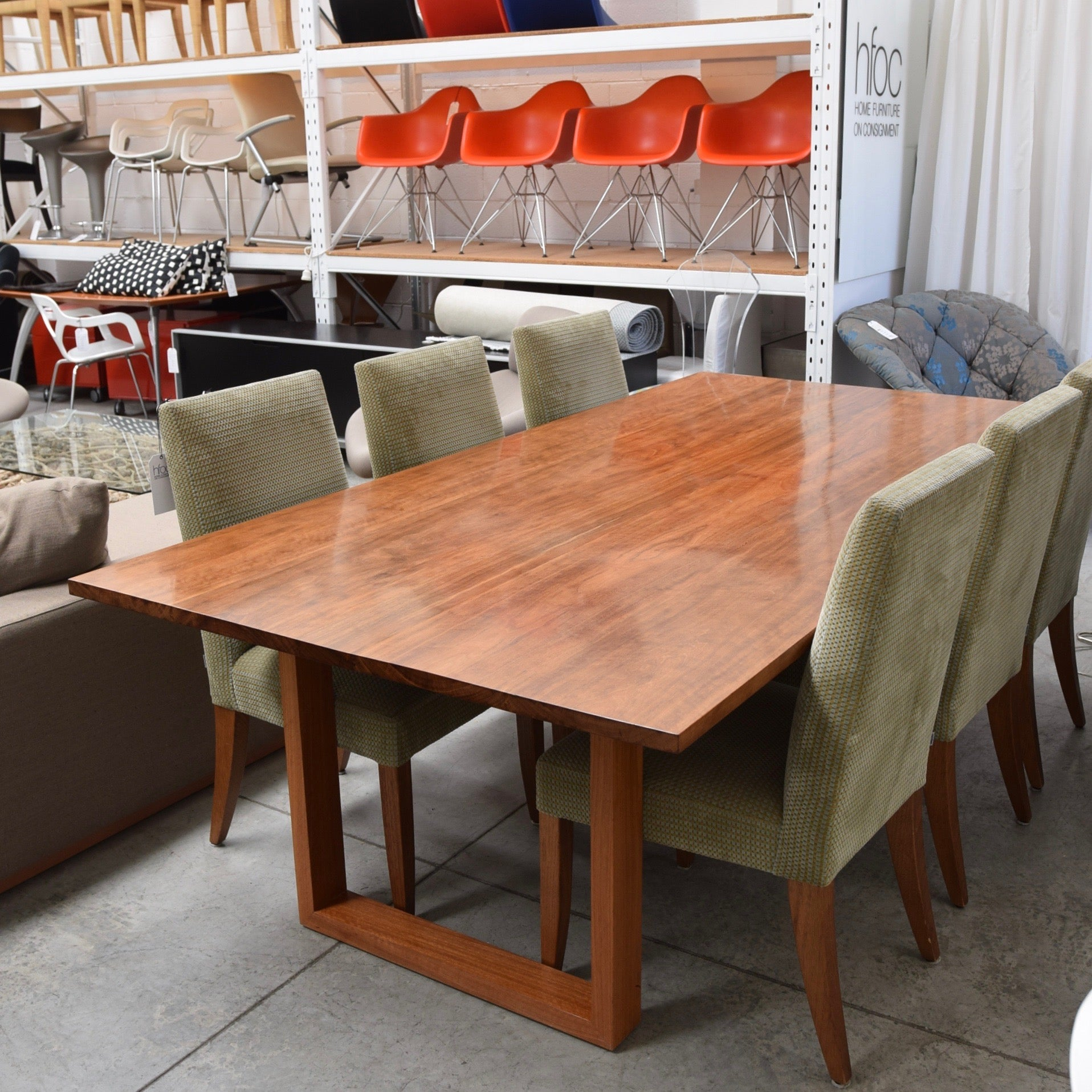 Slab dining table by planet furniture home furniture on for Reduced furniture