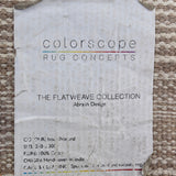 Abrash Design Flatweave Collection Area Rug by Colorscope