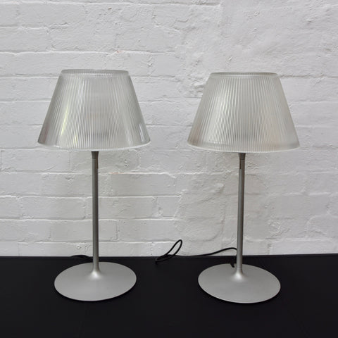 PAIR Romeo T1 Moon Lamps by Philippe Starck for Flos (Inline switch)